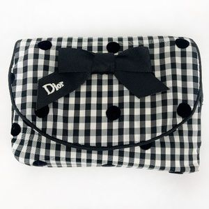 Authentic Dior Rare Gingham Cosmetic Bag